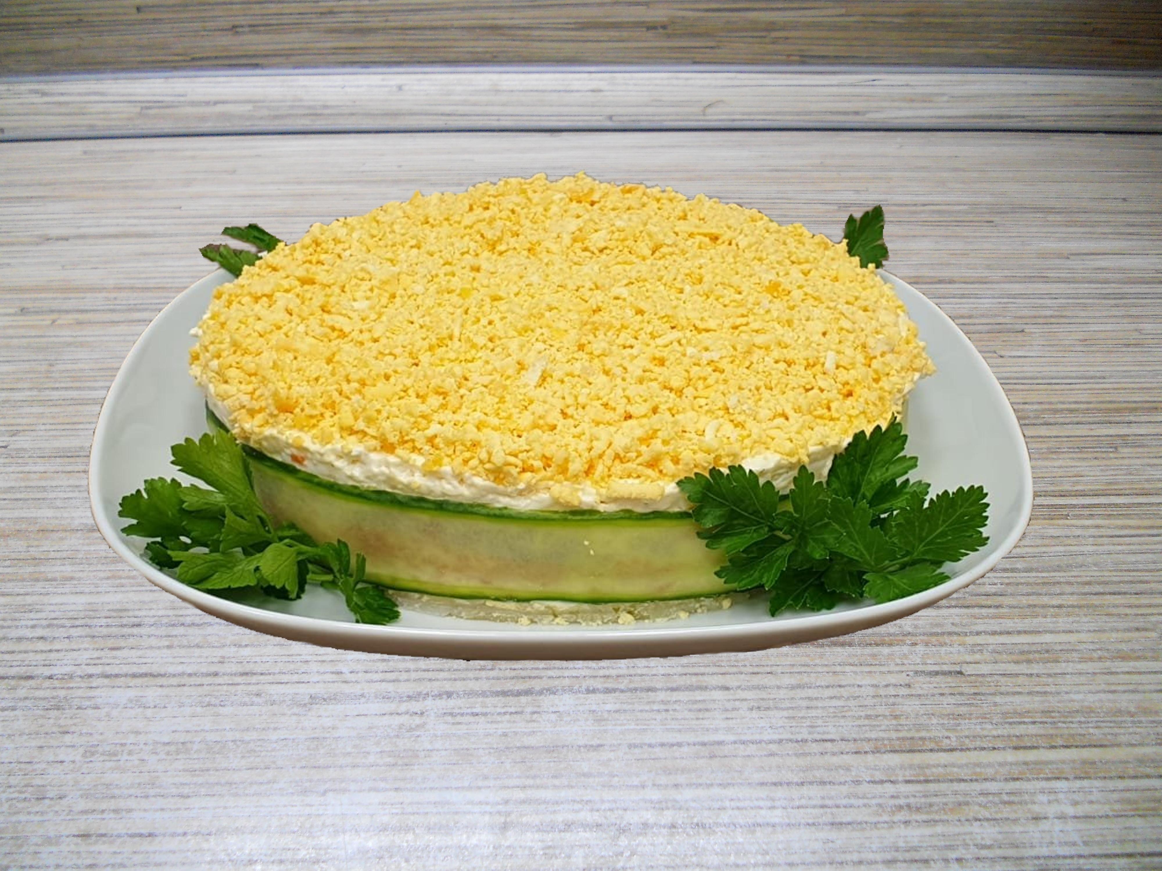 салат мимоза новый рецепт с фото щенок